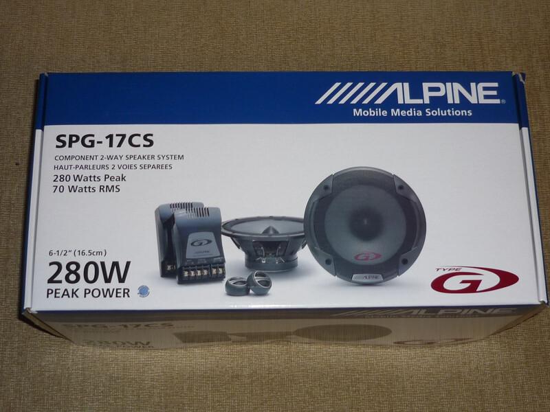 Alpine spg-17cs