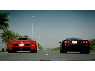 Bugatti Veyron ir McLaren F1 dvikova (VIDEO)