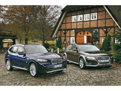Audi A4 Allroad Quattro 2.0 TDI prieš BMW X1 xDrive 23d