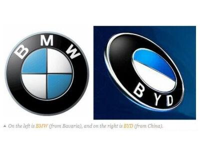 Nukopijuoti automobilių kompanijų logotipai