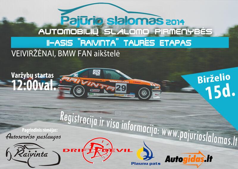 """Pirmasis ,,Pajūrio slalomo"""" 2014 m. sezono etapas"""