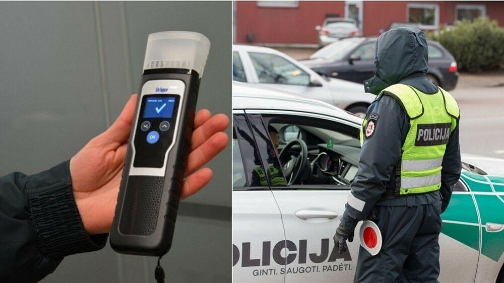Alkotesterių nebepakanka - policija blaivumą tikrins ir iki šiol nematytais prietaisais, bet jie turi daug privalumų