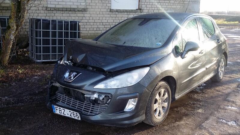 Peugeot 308 2009 m dalys