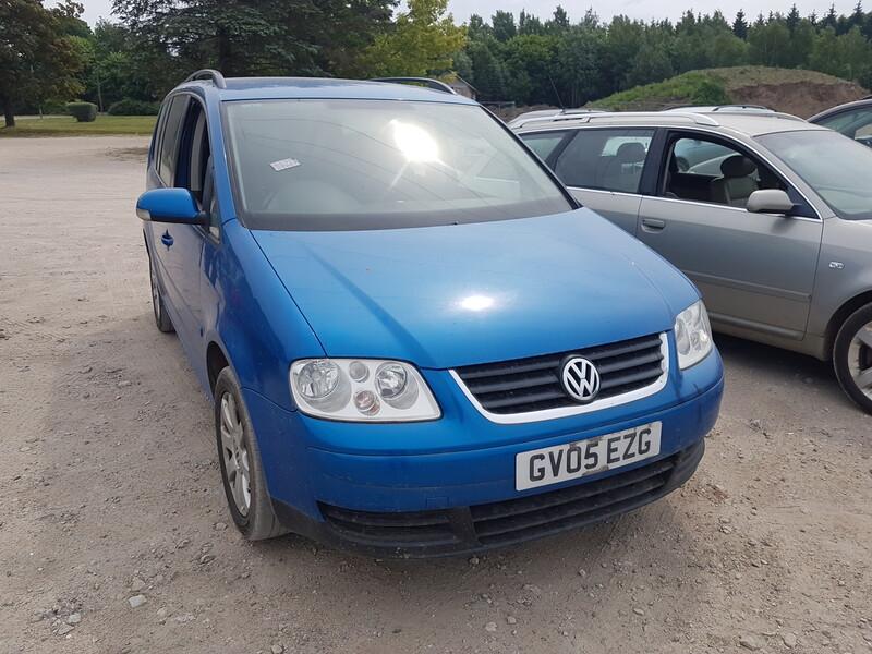 Volkswagen Touran I BKC 6begiu 2005 m. dalys
