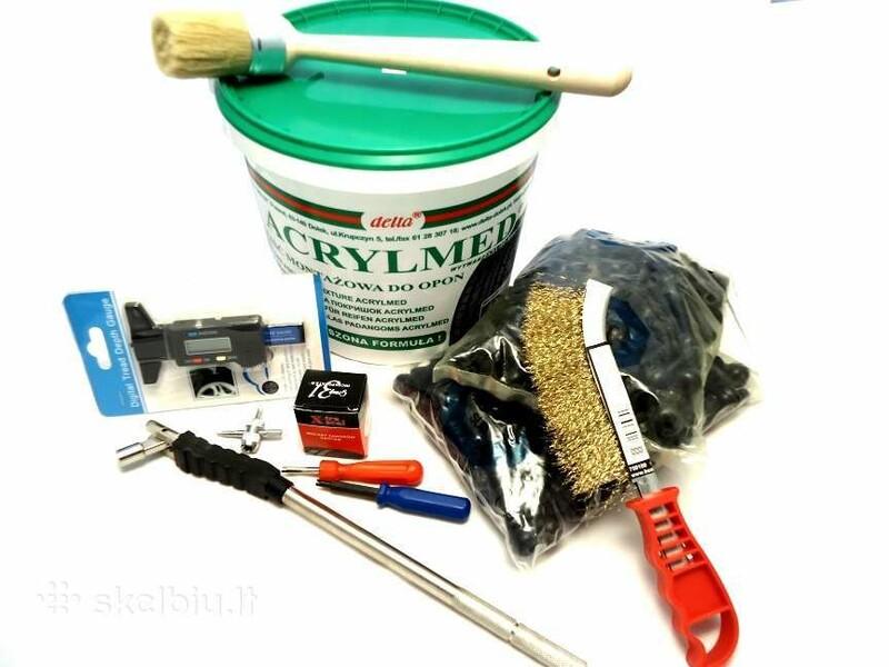 Servisų įranga/įrankiai  balansavimo svareliai - ventiliai - akcija!