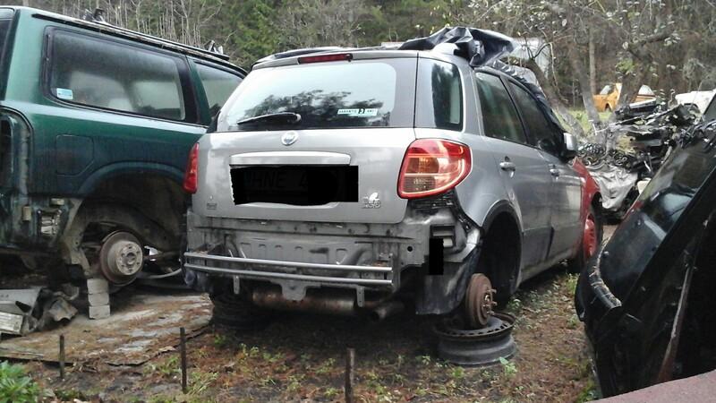 Fiat Sedici 2007 m dalys