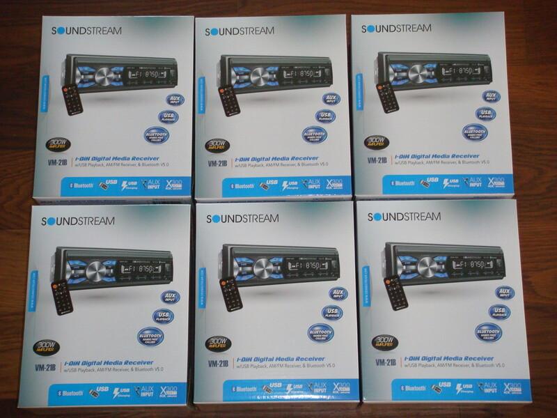 CD/MP3 grotuvas  Soundstream VM-21B Bluetooth,USB