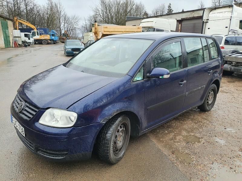 Volkswagen Touran I 1.9 DYZELIS 74 KW 2003 m dalys