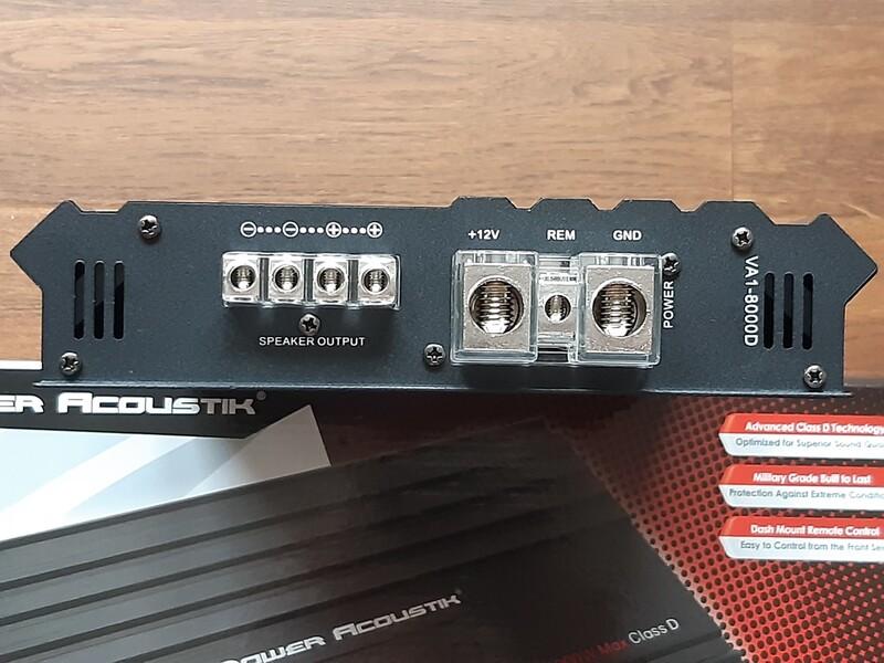 Garso stiprintuvas  Power Acoustik VA1-8000D
