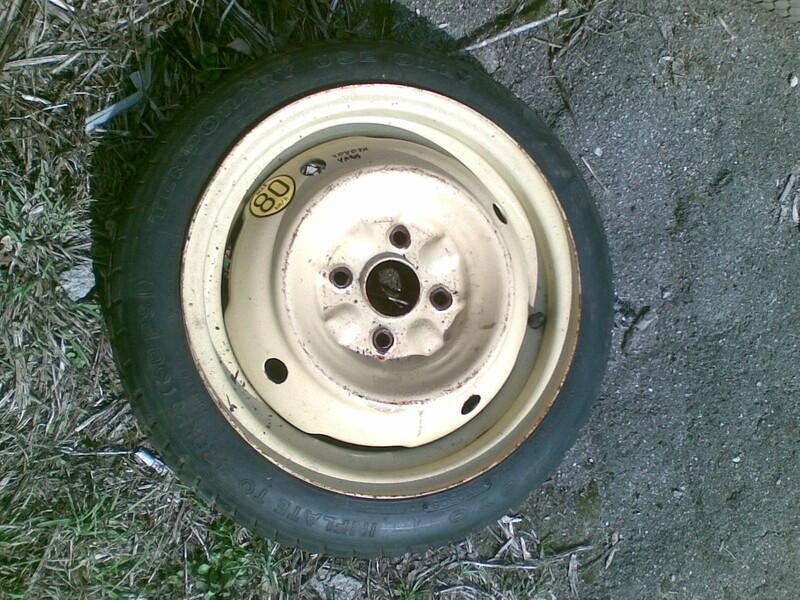 Toyota Yaris R14 atsarginis ratas
