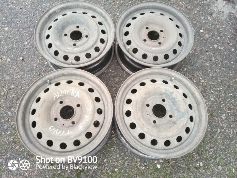 Nissan Almera R15 plieniniai štampuoti  ratlankiai