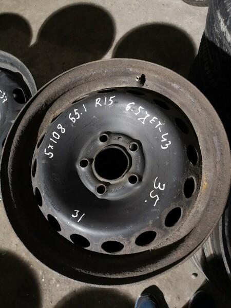 R15 plieniniai štampuoti  ratlankiai