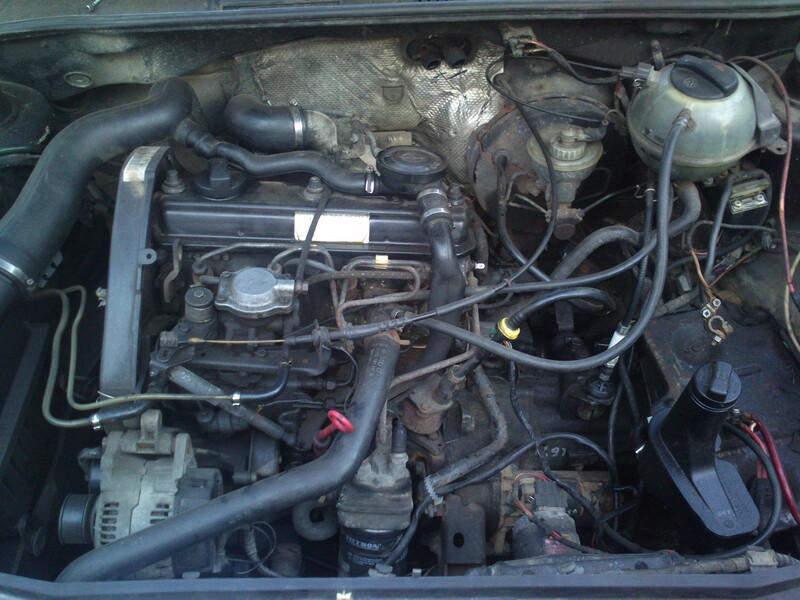 Volkswagen Golf III 55KW TD 1995 m. dalys