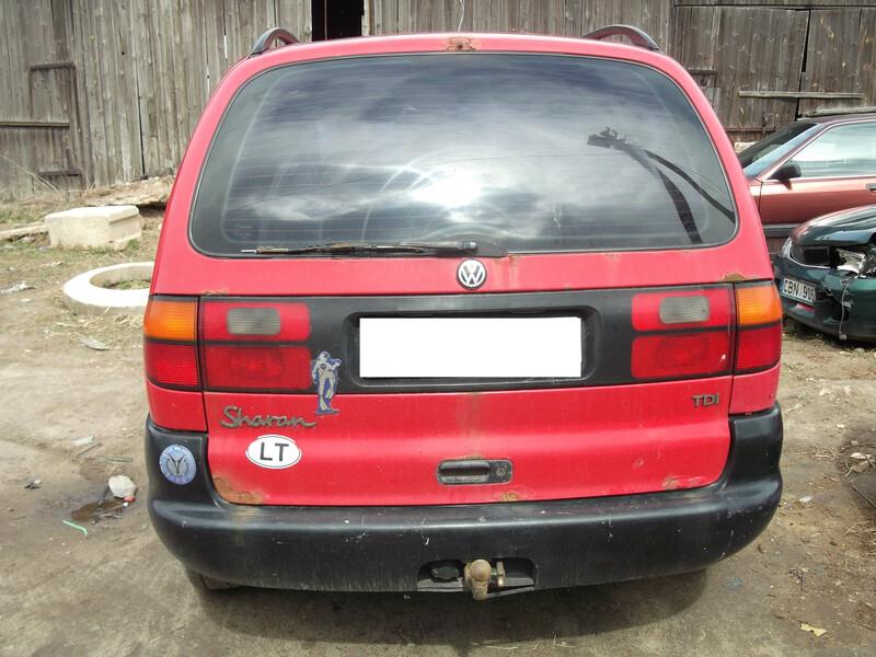 Volkswagen Sharan tdi 1998 m dalys
