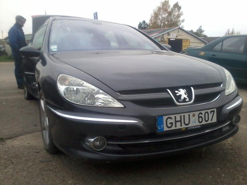 Peugeot 607 2007 m dalys