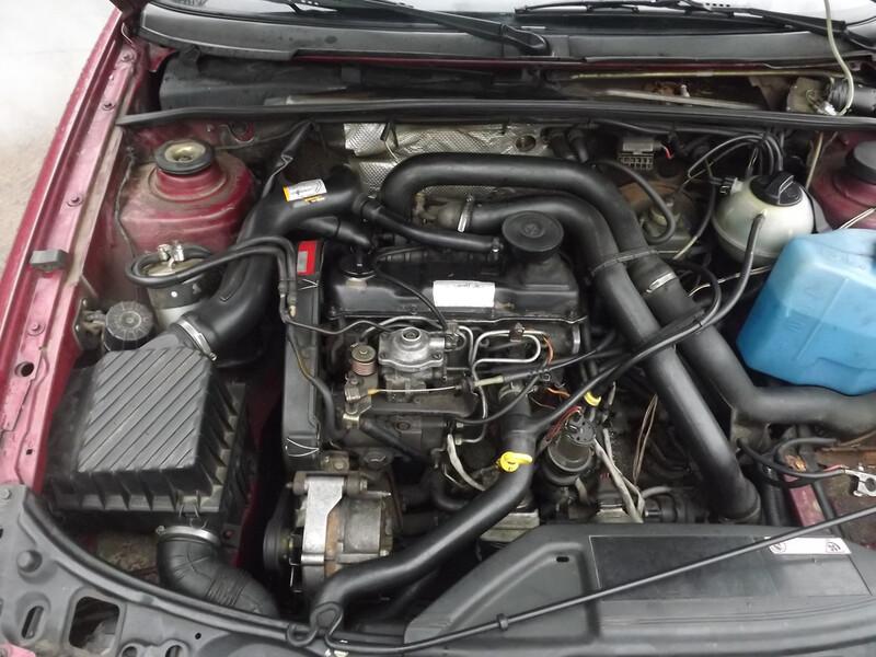 Volkswagen 1.6 td lb geras  1991 m. dalys