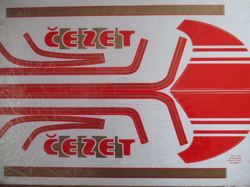 Klasikinis  CZ 350 1984 m. dalys