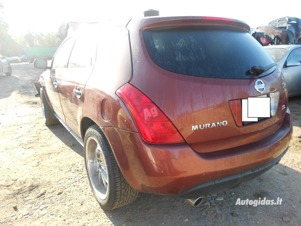 Nissan Murano 2004 y. parts
