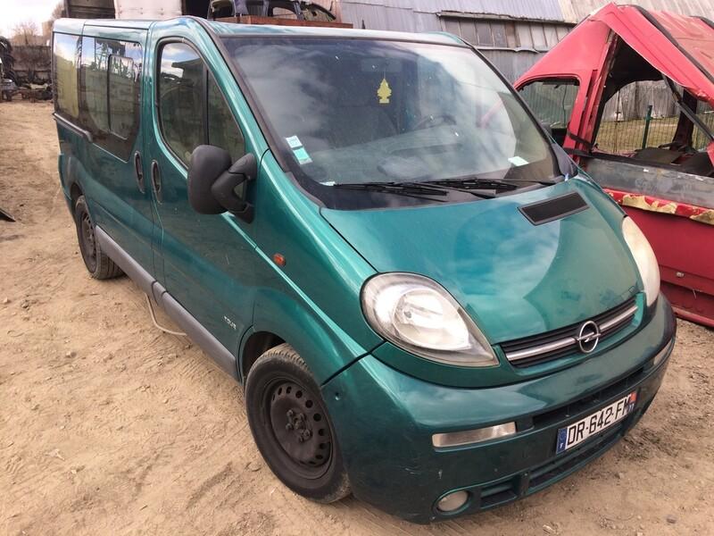 Opel Vivaro I 2006 m dalys