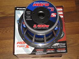 Žemų dažnių garsiakalbis  Power Acoustik MOFOS-10D2/10D4