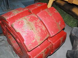 Fendt 936 galinių ratų svoriai