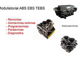 ABS EBS moduliatorius