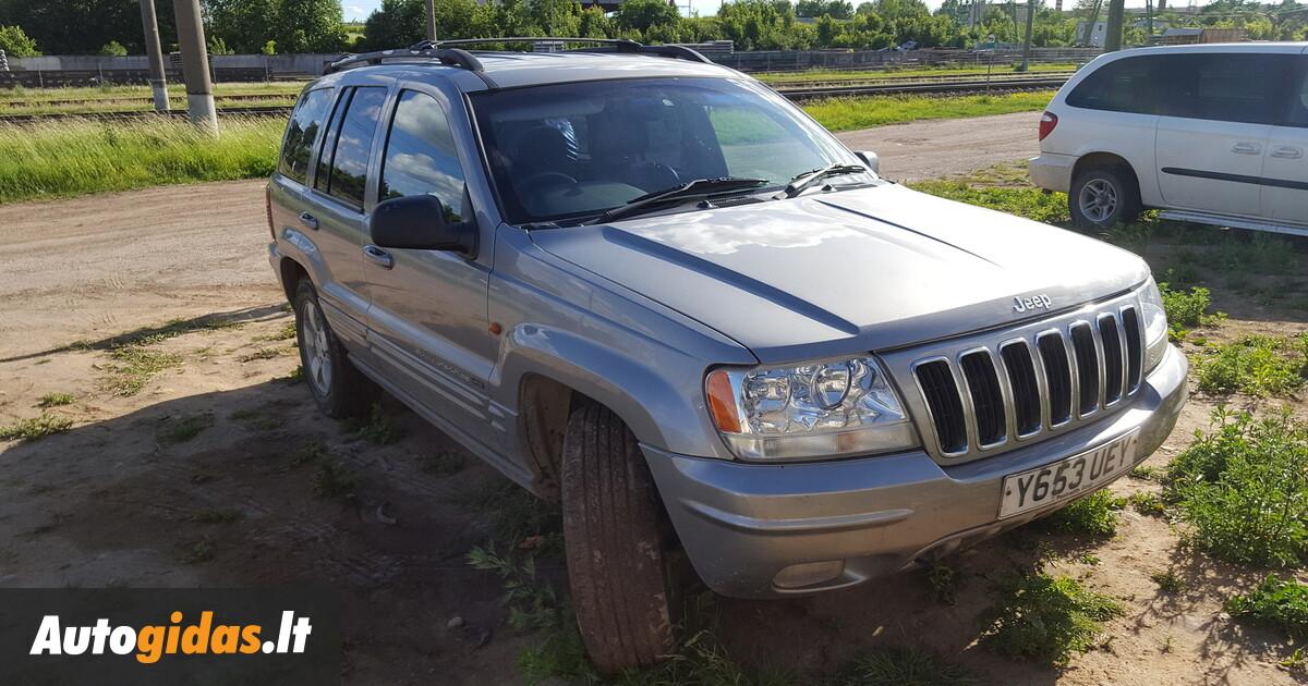 Jeep grand cherokee ii 2000 m dalys skelbimas autogidas for Interieur jeep grand cherokee 2000