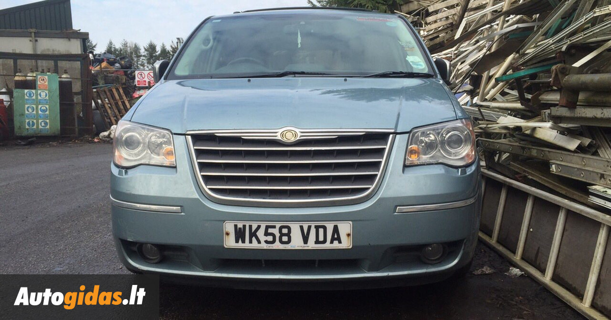 chrysler grand voyager iv 2009 m dalys skelbimas 1023441930 autogidas. Black Bedroom Furniture Sets. Home Design Ideas