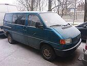 volkswagen transporter t4 T4 / 2,4d ,57kw Kombi mikroautobusas 1992