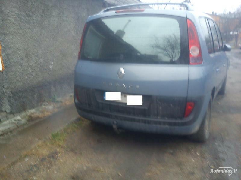 Renault Espace IV dci 6 begiai, 2005m.