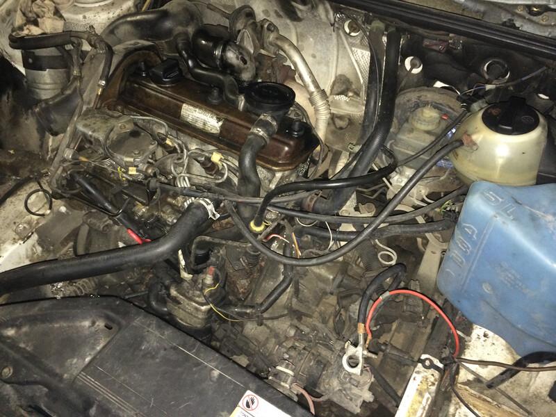 Volkswagen Passat B3 55KW TD,Kablys 1992 m. dalys
