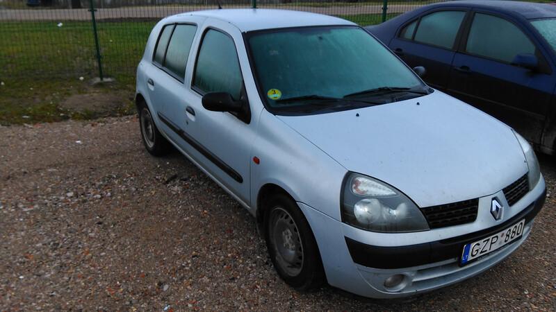 Renault Clio II 2002 m. dalys