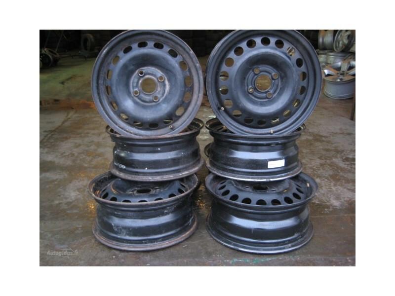 Nuotrauka 1 - R15 plieniniai štampuoti  ratlankiai